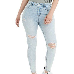 American Eagle Distressed Curvy High Rise Jeggings